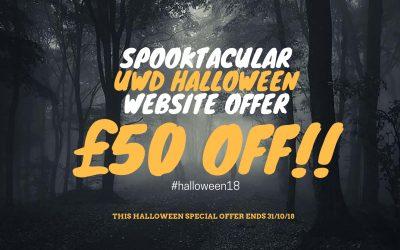 The Spooktacular UWD Halloween Website Offer – £50 Off!
