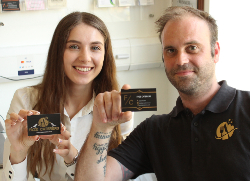 Cristina Ignat of Universal Web Design & Ian Hargreaves of Faze Caterers